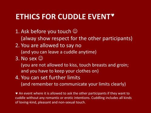 Ethics for Copenhagen Cuddle Club